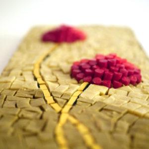 mosaico ravenna soffioni-rossi-su-sabbia-particolare