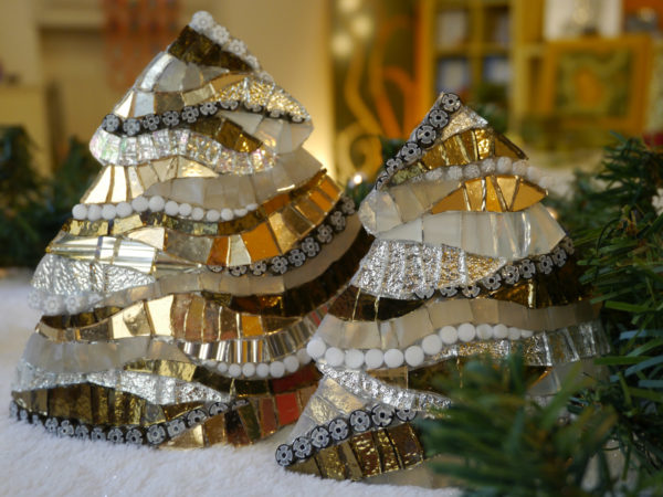 mosaico ravenna Alberi di Natale bronzo