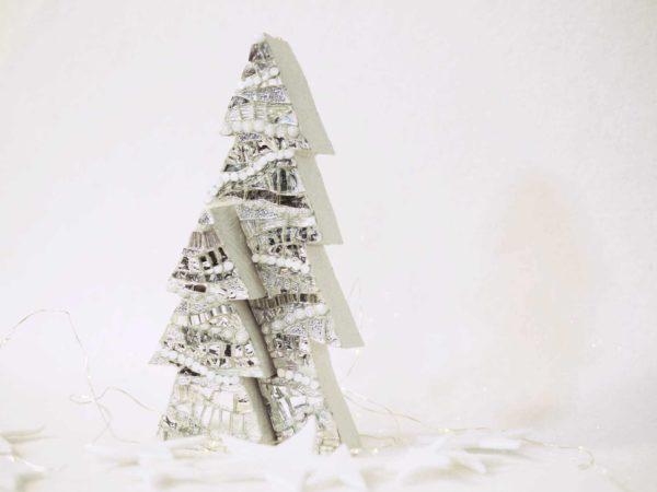 albero di natale in due parti onde argento barbara liverani mosaico r