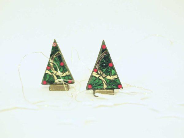 coppia alberi di natale mini ruote classici barbara liverani mosaico 1 r