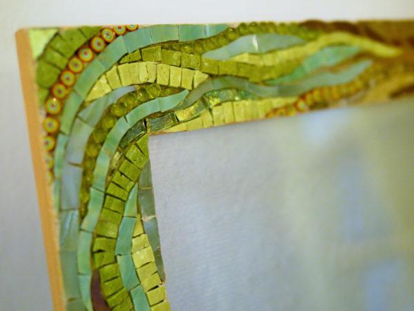 Portafoto puntoevirgola 18x24x4,5 sfumato verde nocciola