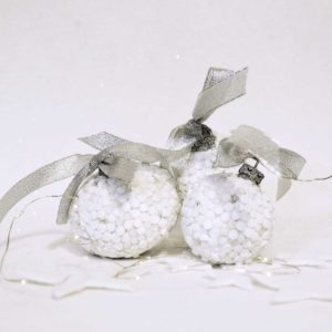 set tre palle di Natale murrine bianche barbara liverani mosaico r