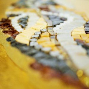mosaico ravenna foglia-di-castagno-marrone