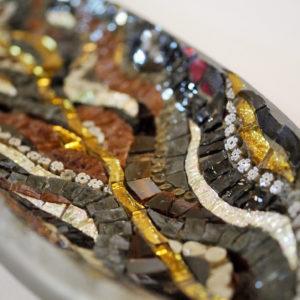 mosaico ravenna foglia-lunga-punto&virgola-nero-marrone