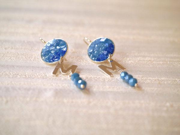 mosaico ravenna orecchini-Questa-Sono-Io-degradé-azzurro