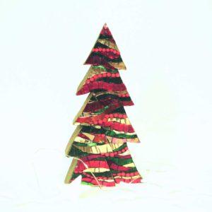albero di natale in due parti onde rosso barbara liverani mosaico 1 r