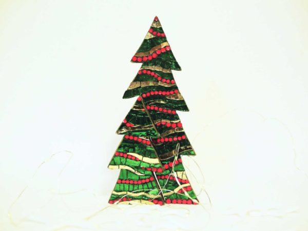 albero di natale in due parti onde verde barbara liverani mosaico 1 r