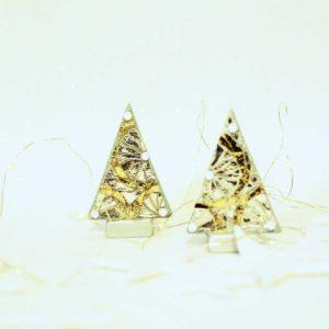 coppia alberi di natale mini ruote argento barbara liverani mosaico 1 r