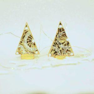 coppia alberi di natale mini ruote oro barbara liverani mosaico 1 r