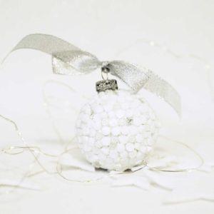 palla di natale sfera murrine bianche barbara liverani mosaico r
